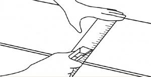 pemasangan lantai vinyl langkah 2 potong plank