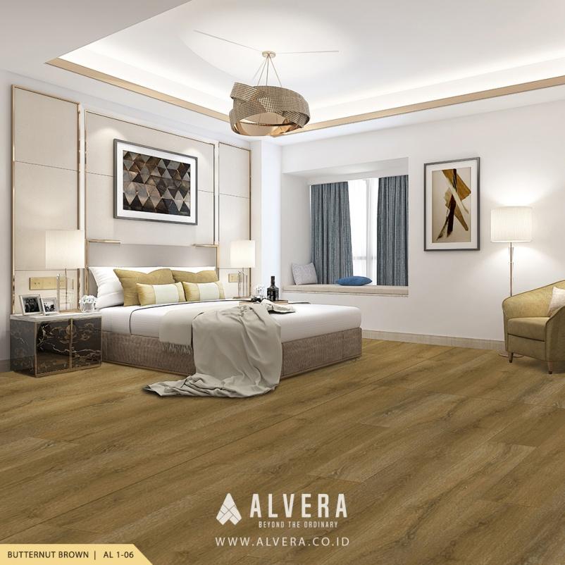 lantai vinyl motif kayu natural untuk kamar tidur alvera butternut brown