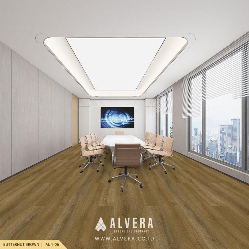 alvera butternut brown lantai vinyl motif kayu natural untuk ruang meeting