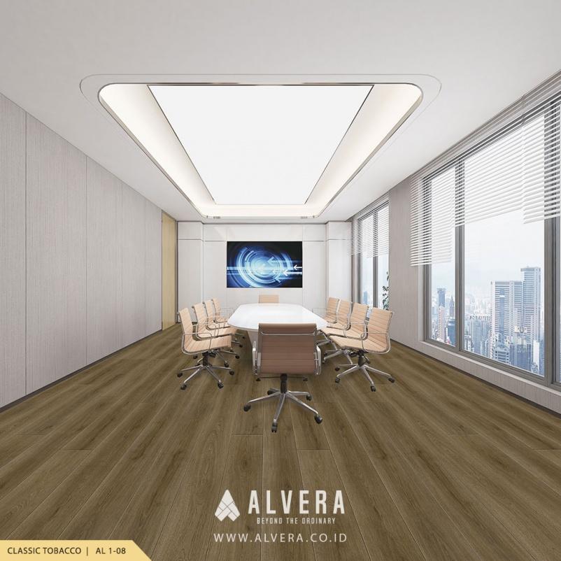 alvera classic tobacco vinyl lantai kayu untuk ruang meeting