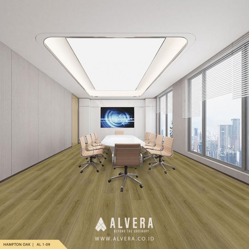 alvera hampton oak vinyl lantai motif kayu untuk ruang meeting