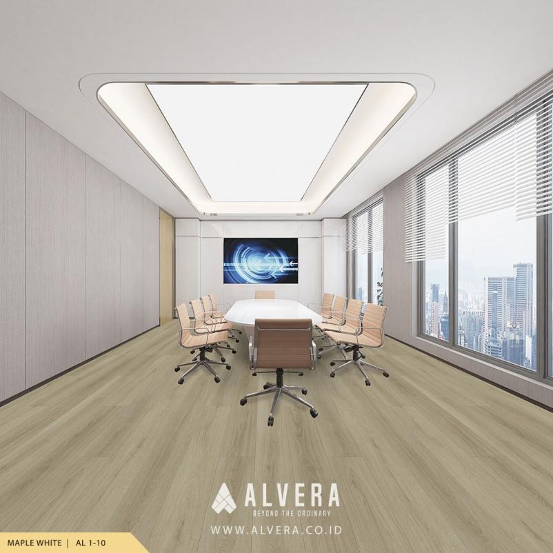 alvera maple white lantai vinyl kayu warna putih untuk ruang meeting
