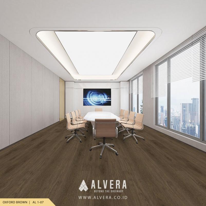 alvera oxford brown lantai vinyl warna gelap untuk ruang meeting