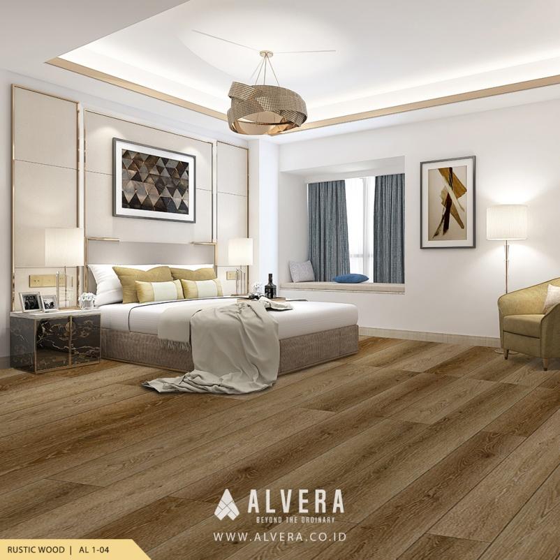 alvera rustic wood lantai vinyl kayu untuk kamar tidur
