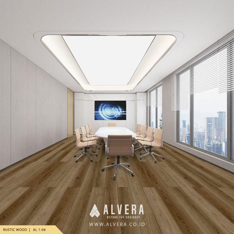 alvera rustic wood lantai vinyl kayu untuk ruang meeting