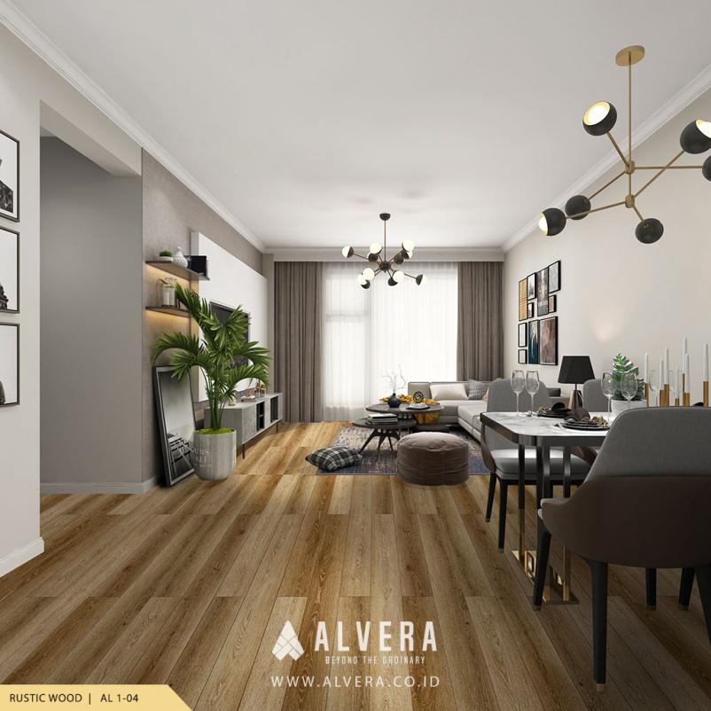 alvera rustic wood lantai vinyl kayu untuk ruang tamu