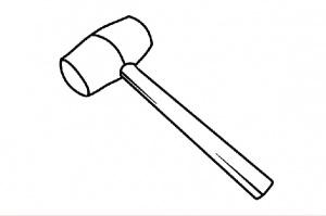 hand roller rubber hammer