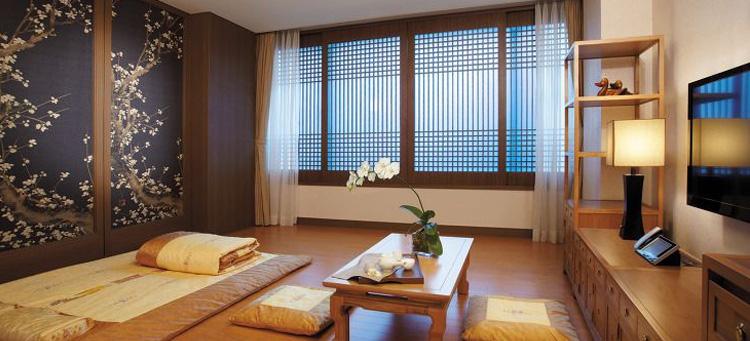 interior minimalis furnitur ruangan korea dengan lantai vinyl