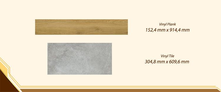 pilihan ukuran latai vinyl plank tile